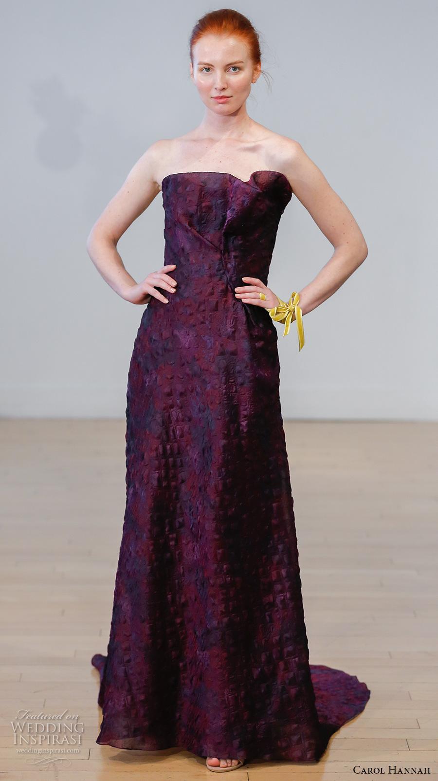 Wedding Dresses With Purple Accents 95 Good carol hannah bridal strapless