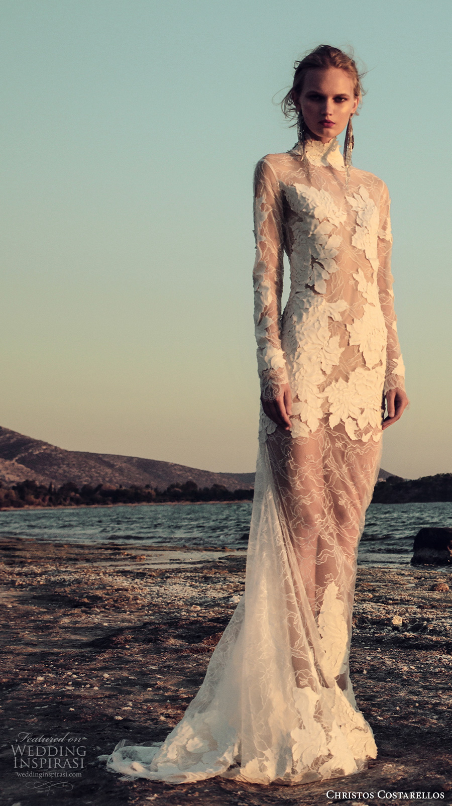 Sexy Long Sleeve Wedding Dresses 44 Cool christos costarellos fall bridal