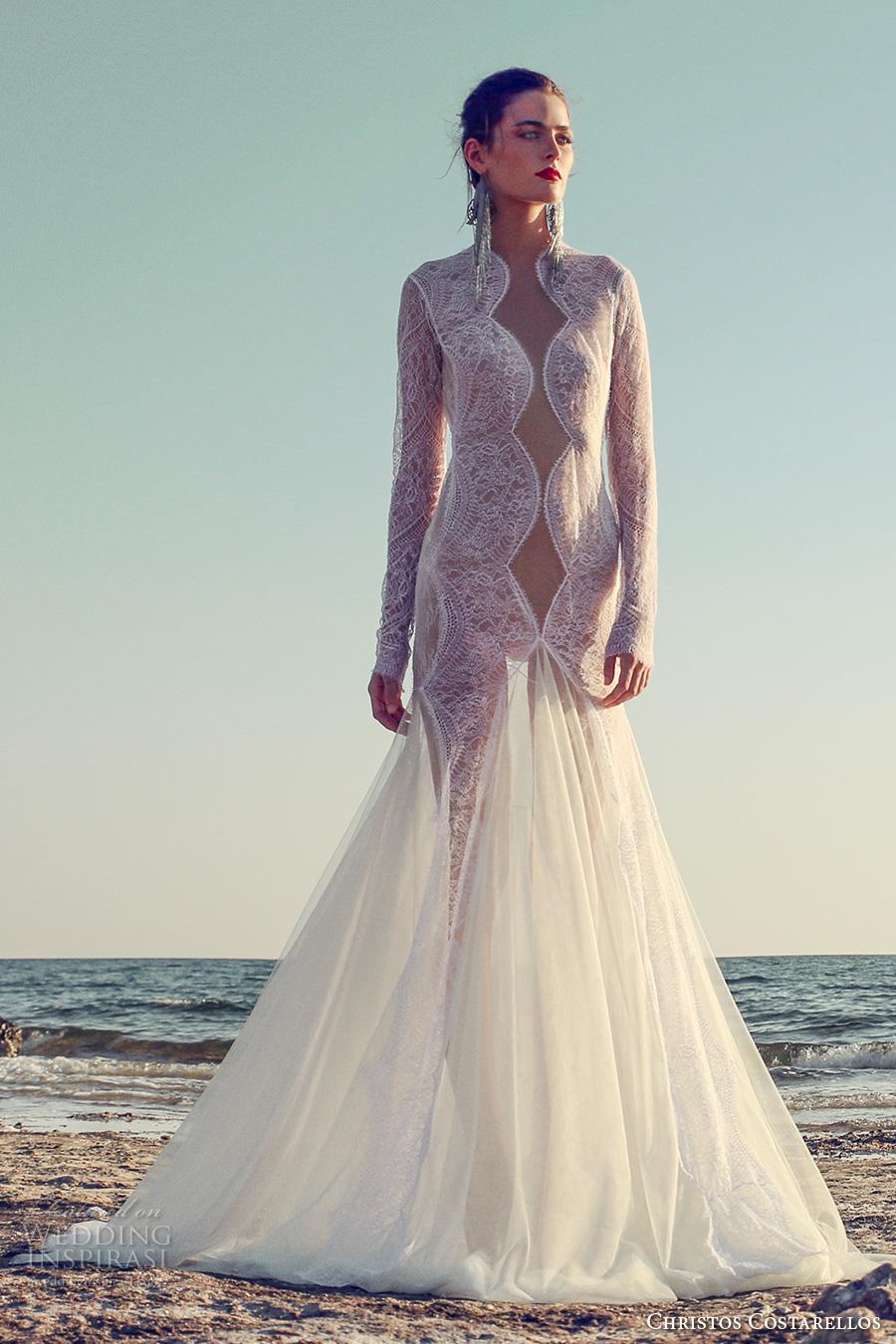 Lace Wedding Dresses Online 28 Popular christos costarellos fall bridal