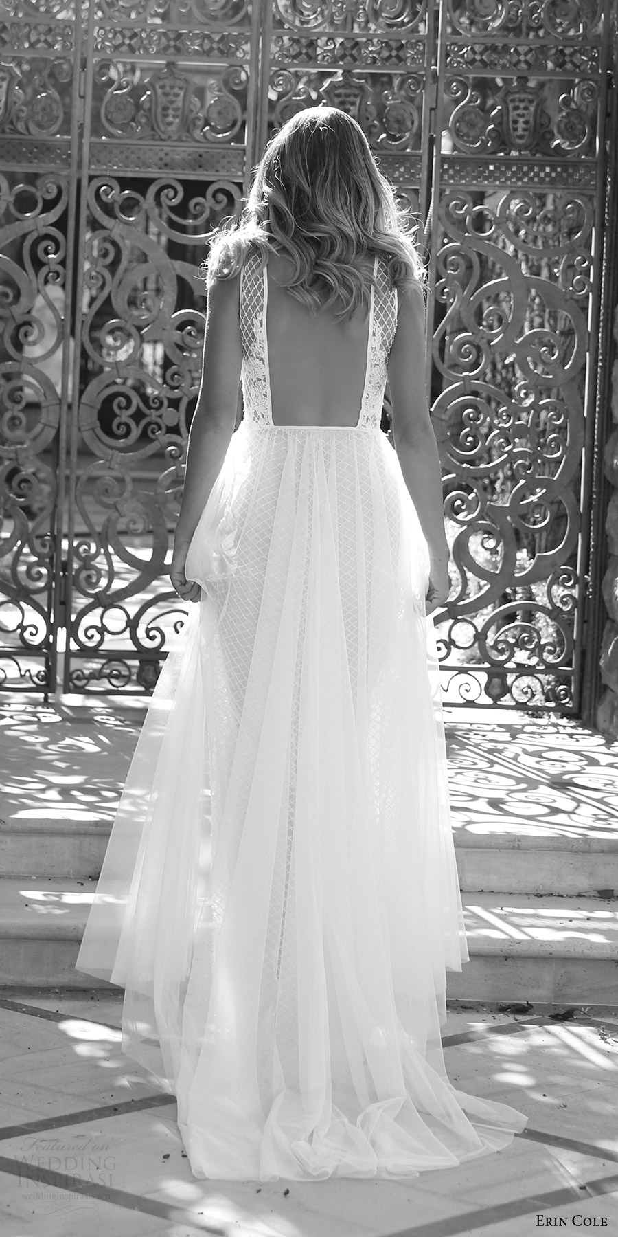erin cole fall 2017 bridal sleeveless deep v neck aline lace embellished bodice wedding dress (amandine) bv romantic low back train
