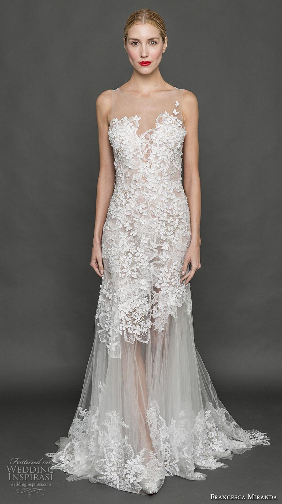 Francesca miranda fall 2017 wedding dresses wedding for Tulle trumpet wedding dress