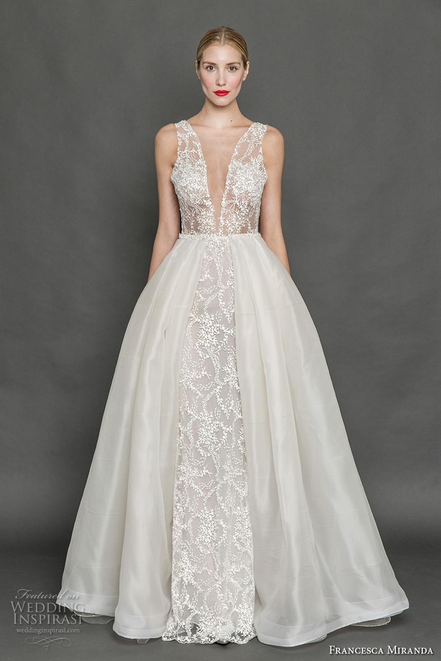 Francesca miranda fall 2017 wedding dresses wedding for Wedding dress with overskirt
