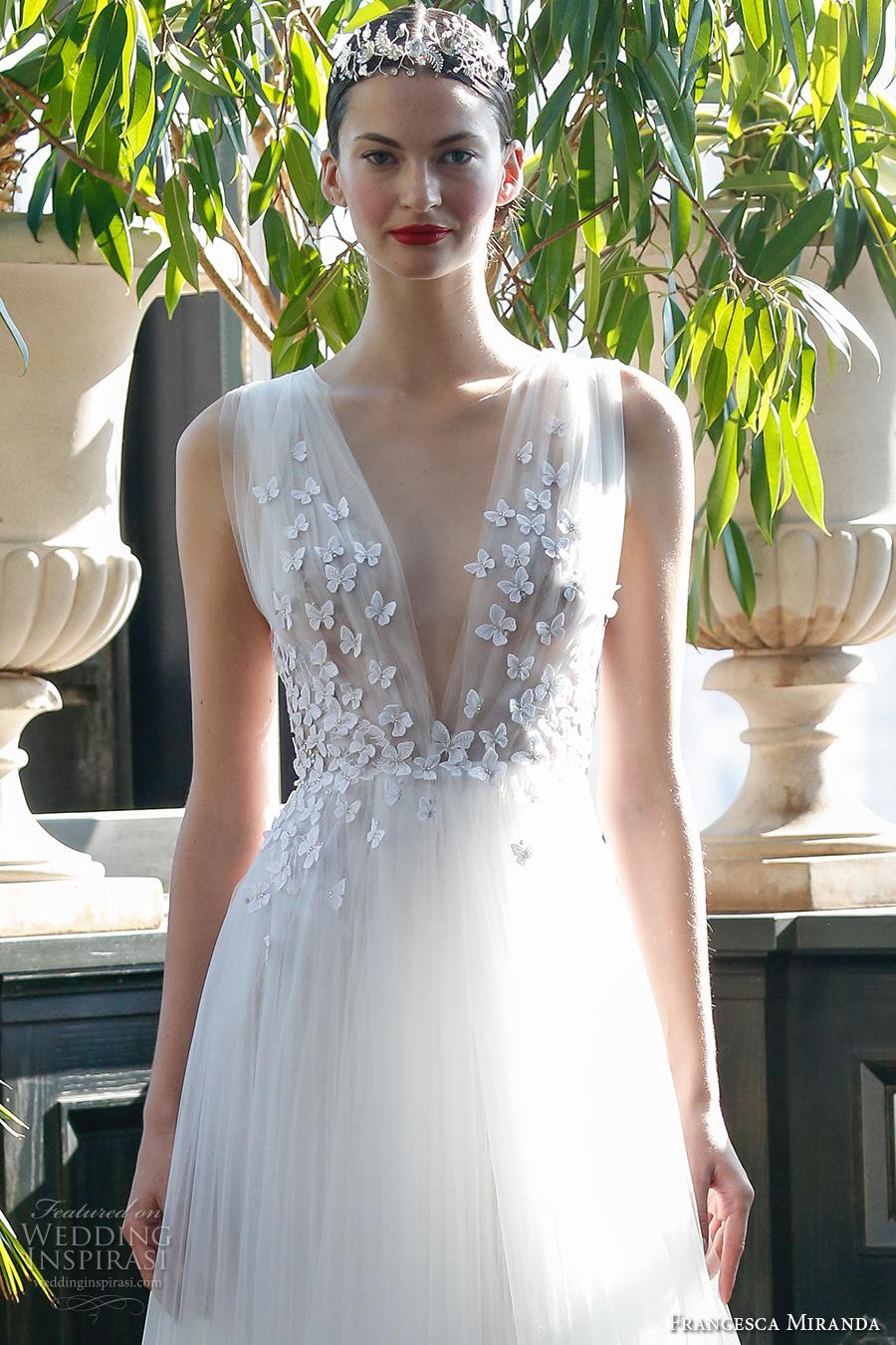Francesca miranda fall 2017 wedding dresses wedding for Butterfly back wedding dress