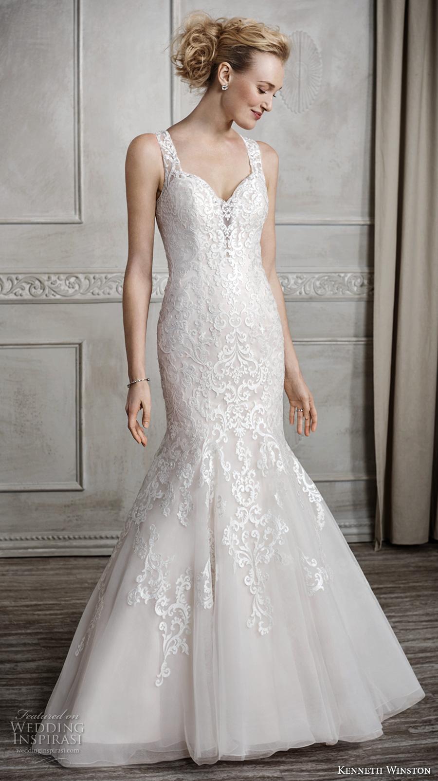 Kenneth winston fall 2016 wedding dresses wedding inspirasi for Illusion sweetheart neckline wedding dress
