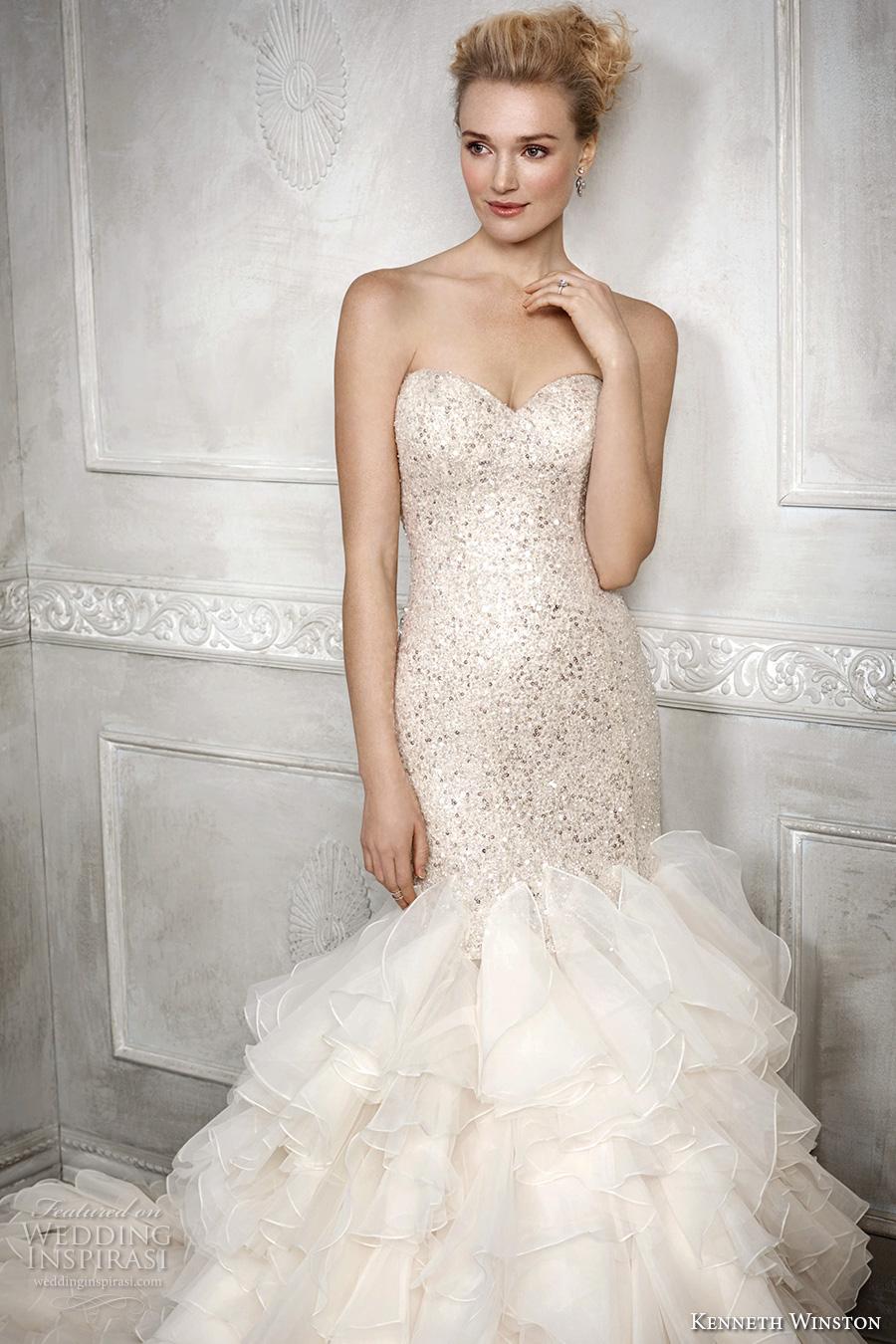 Kenneth winston fall 2016 wedding dresses wedding inspirasi for Strapless sparkly wedding dresses