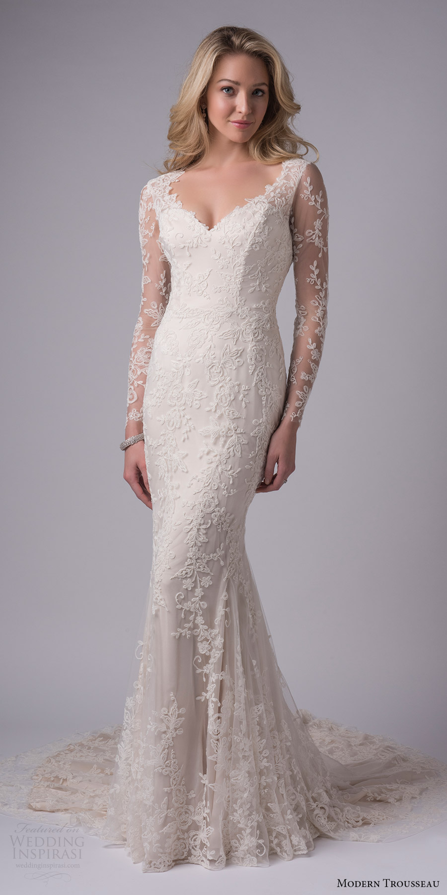Modern Lace Wedding Dress