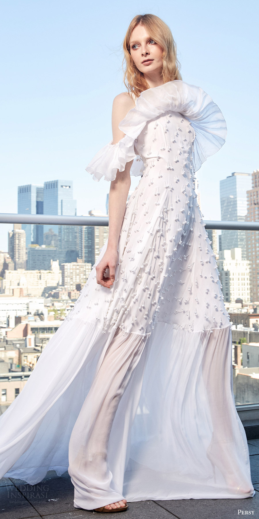 Wedding Dress Ruffle 51 Superb persy spring bridal cold