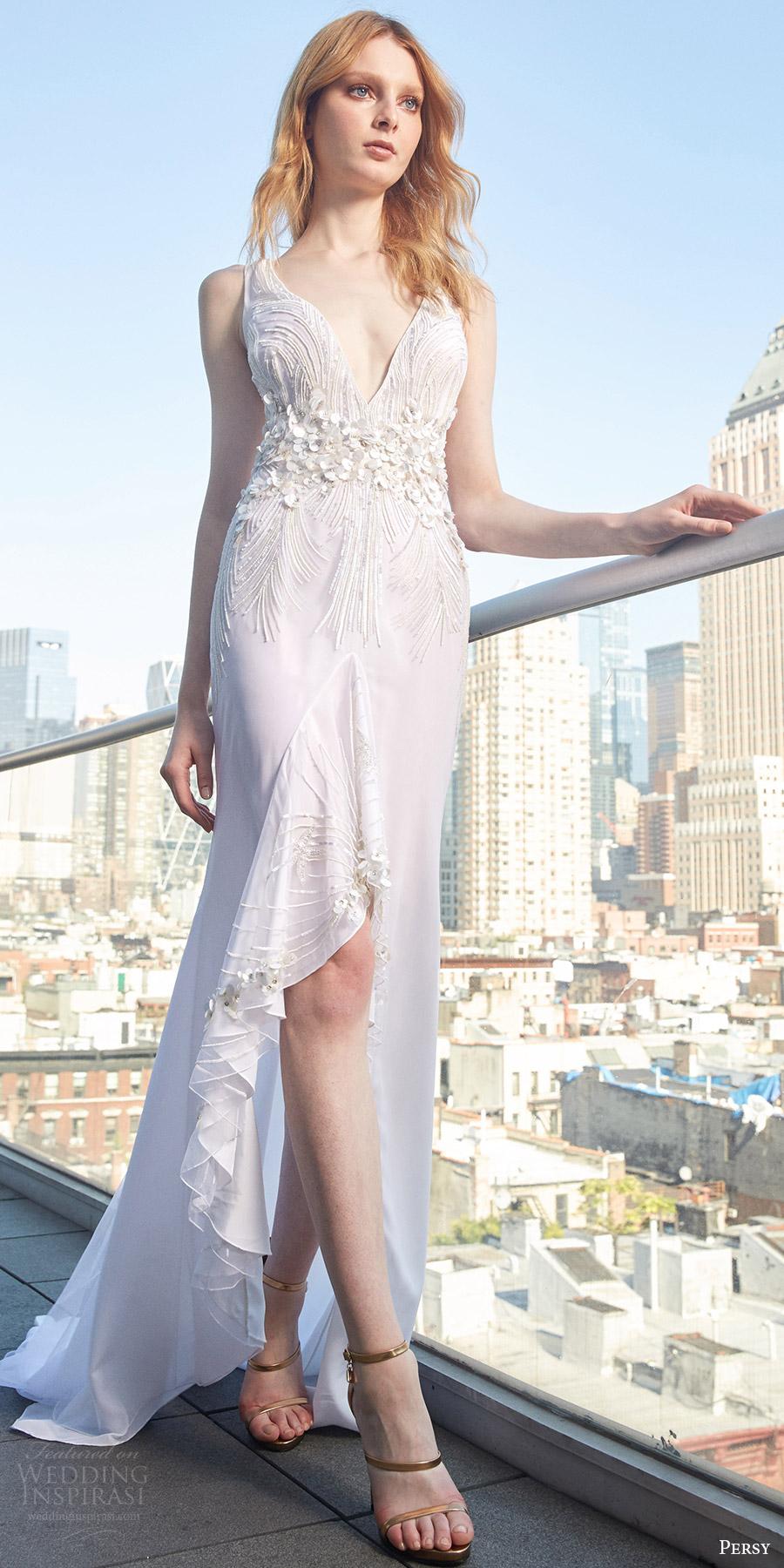 Hi Low Wedding Dress 54 Stunning persy spring bridal sleeveless