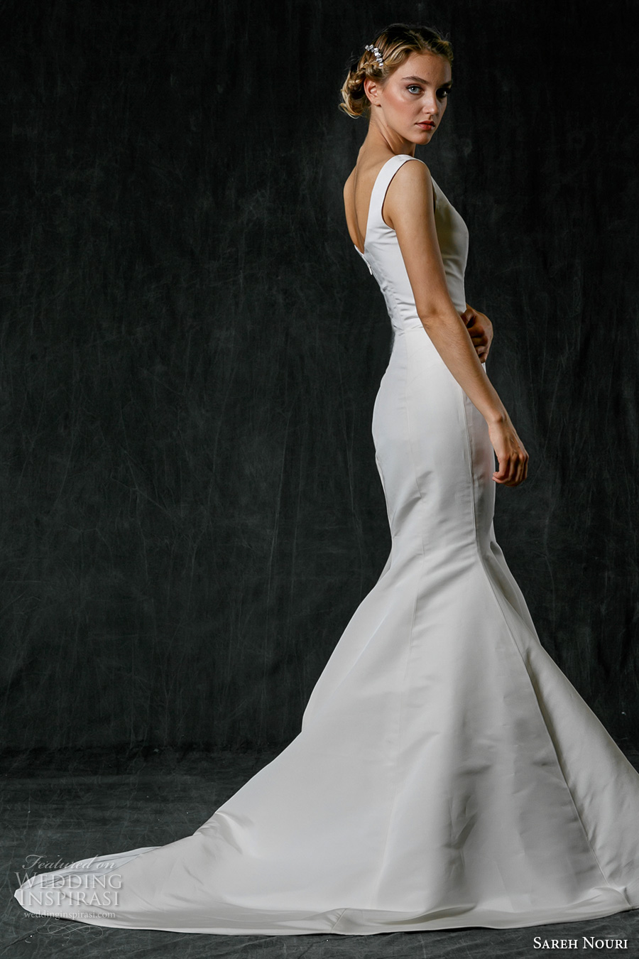 Sareh nouri fall 2017 wedding dresses wedding inspirasi for Simple elegant wedding dress designers