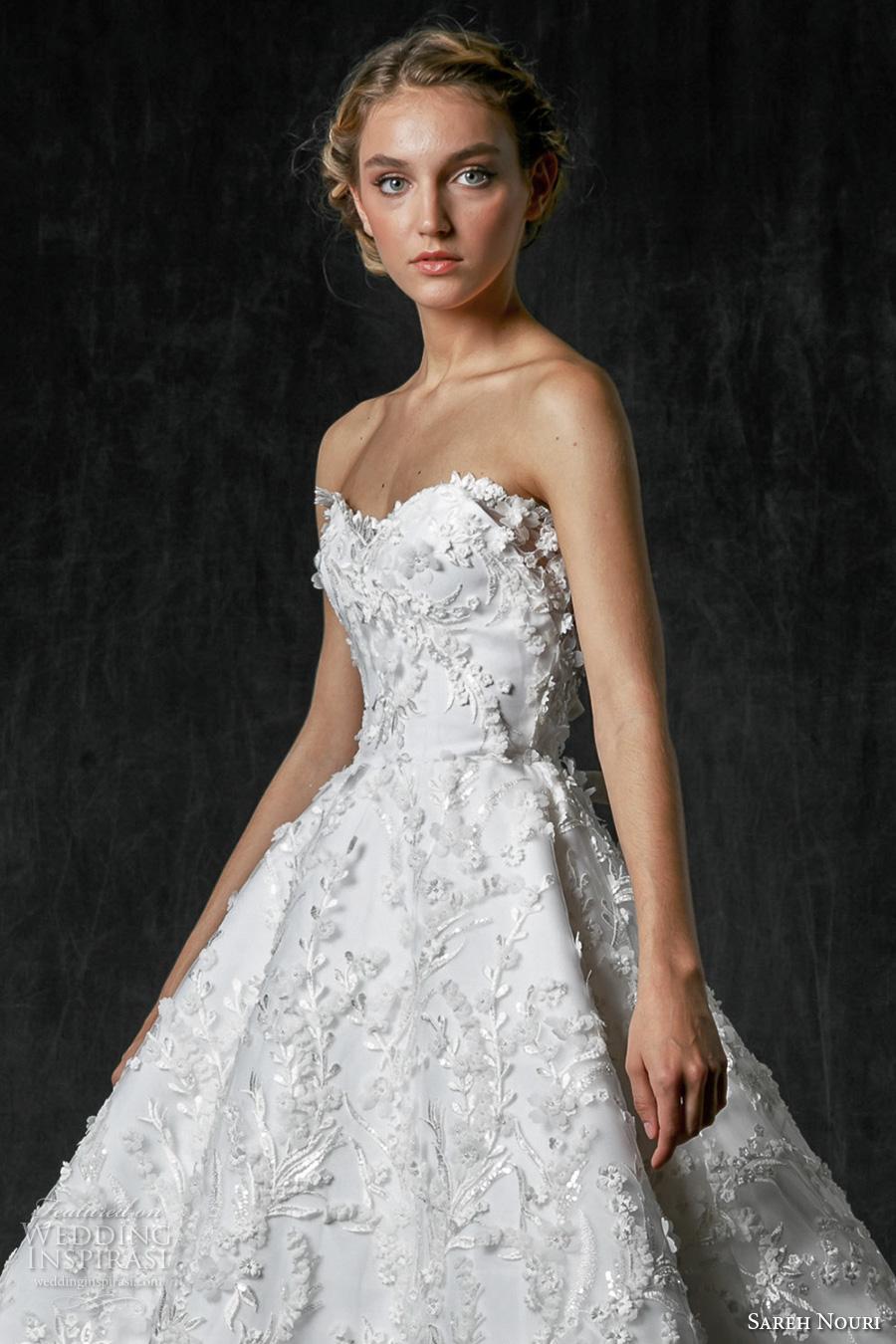Sareh nouri fall 2017 wedding dresses wedding inspirasi for Below the knee dresses for wedding