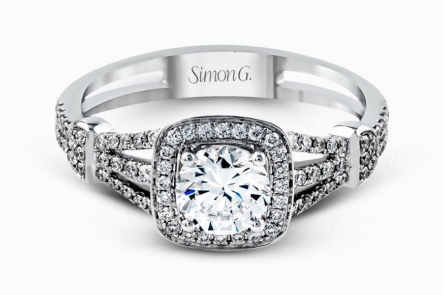 Silver Diamond Wedding Ring Sets