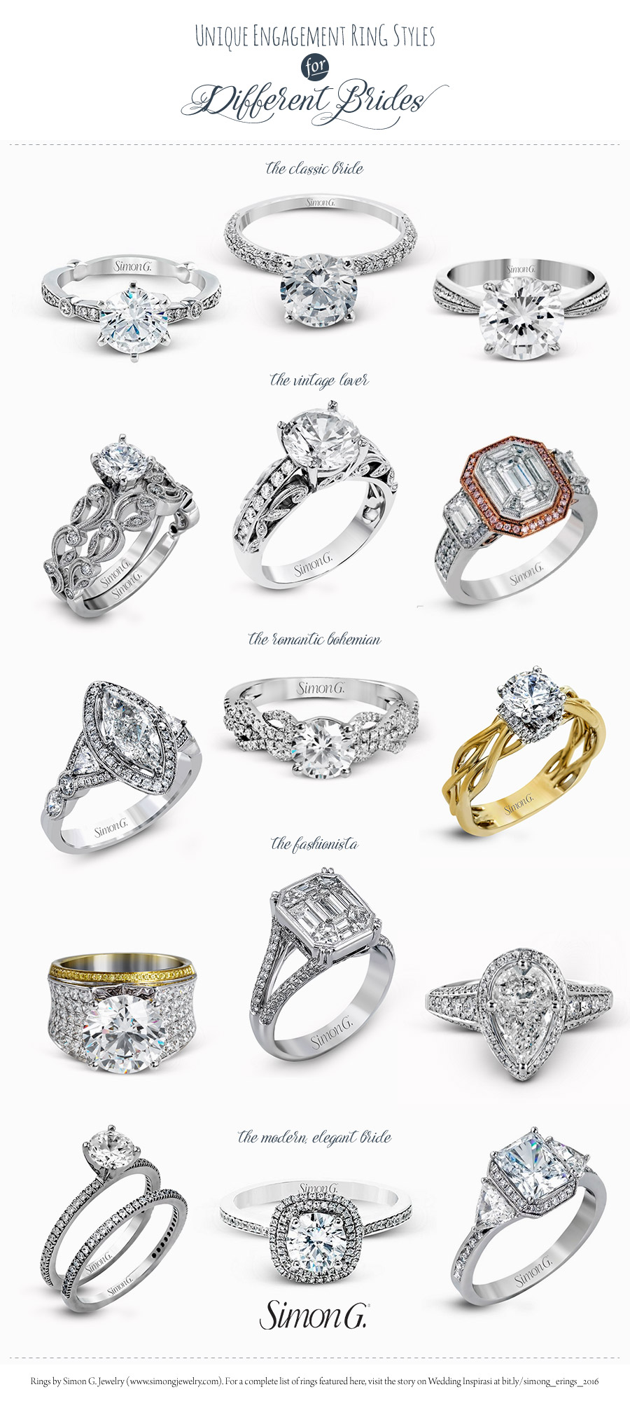simon g engagement ring styles for every bride wedding With different wedding ring styles