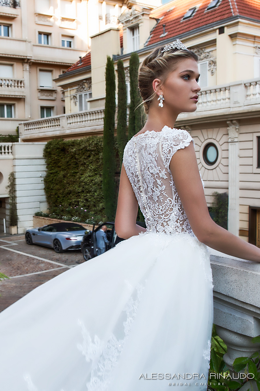 alessandra rinaudo 2017 bridal cap sleeves boat neckline lace embellished bodice romantic sheath wedding dress ball gown a  line train lace back long train (bibi) zbv
