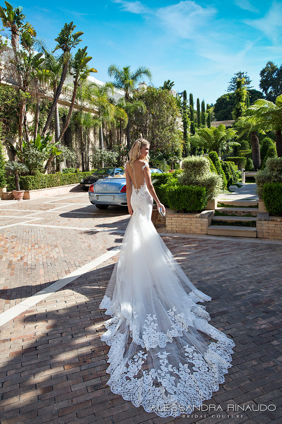 alessandra rinaudo 2017 bridal cap sleeves sweetheart neckline heavily embellished bodice elegant a line wedding dress illusion back long train (bellagio) bv