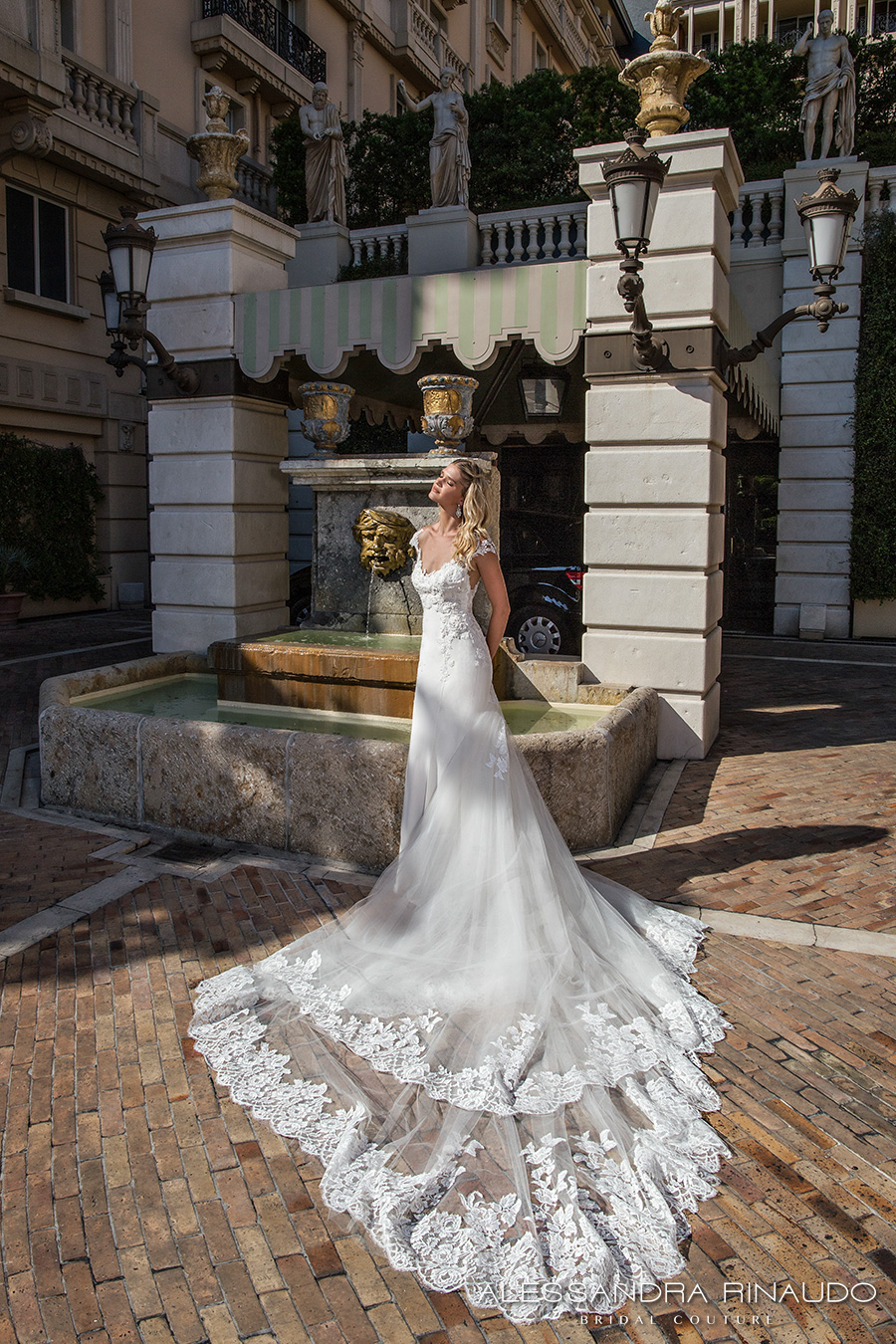 alessandra rinaudo 2017 bridal cap sleeves sweetheart neckline heavily embellished bodice elegant a  line wedding dress illusion back long train (bellagio) mv