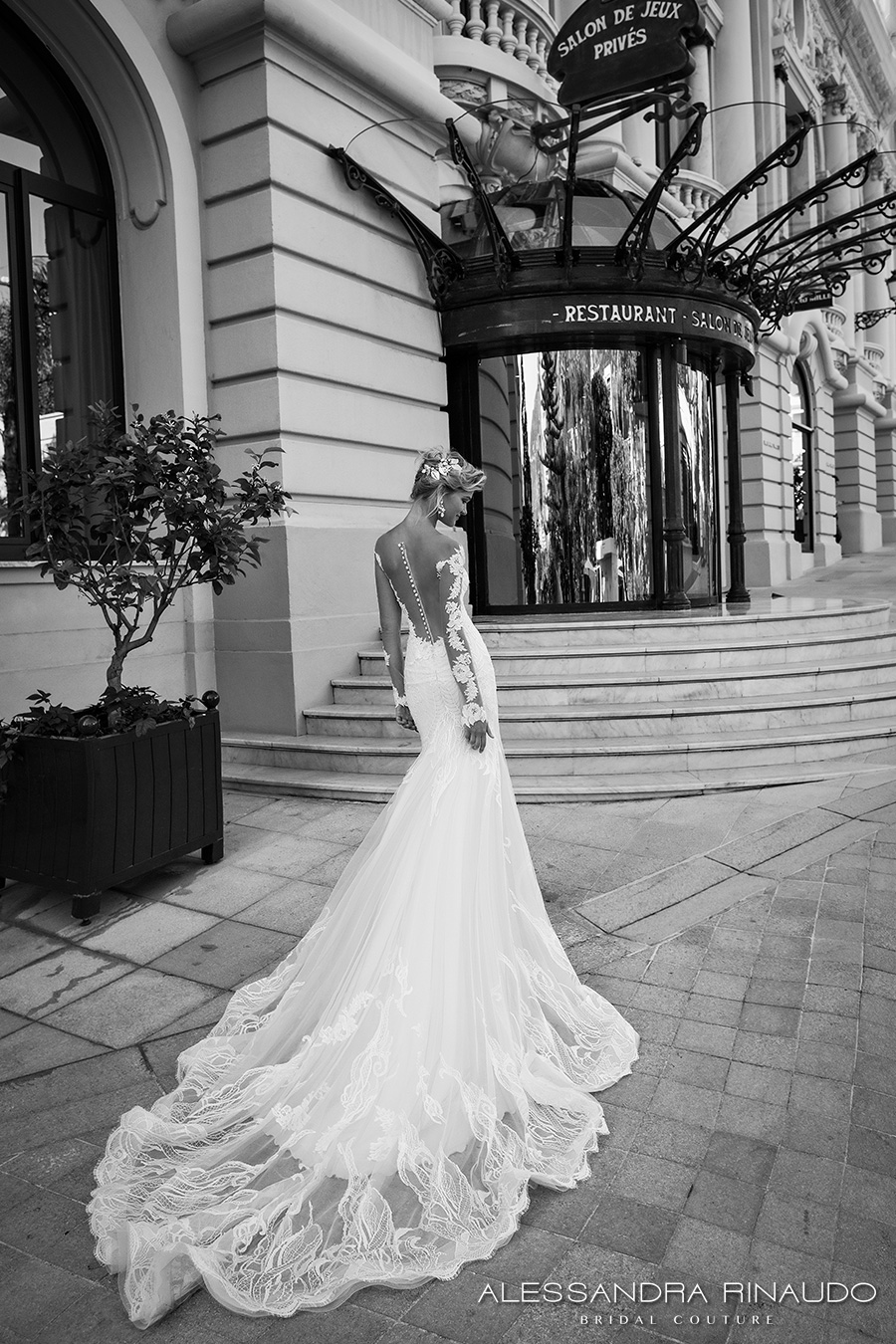 Alessandra Rinaudo 2017 Bridal Lace Long Sleeves Illusion Boat Sweetheart Neckline Elegant Fit And Flare Wedding