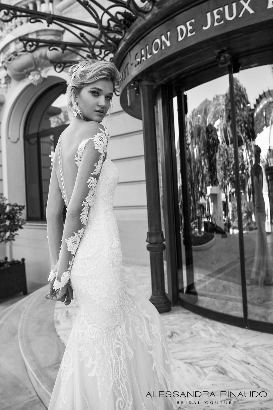 alessandra rinaudo 2017 bridal lace long sleeves illusion boat sweetheart neckline elegant fit and flare wedding dress illusion low back long train (bergenia) zbv