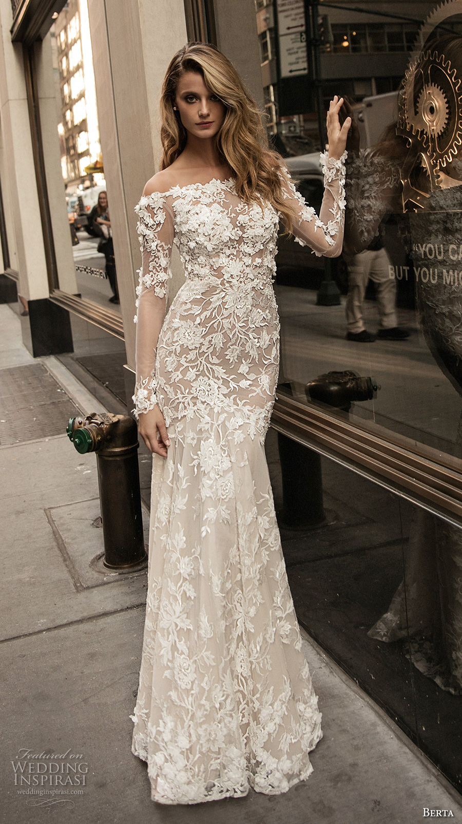 Berta fall 2017 wedding dresses wedding inspirasi for Wedding dresses with sleeves 2017
