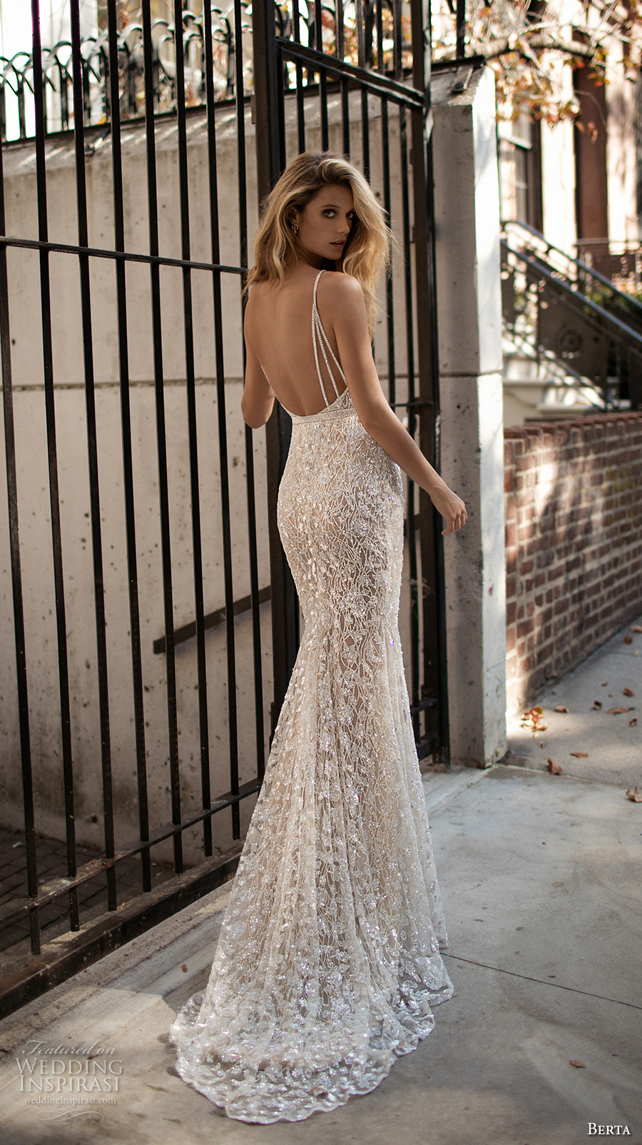 berta fall 2017 bridal sleeveless spagetti strap deep v neck full embellishment sexy glamorous fit and flare wedding dress low back sweep train (004) bv