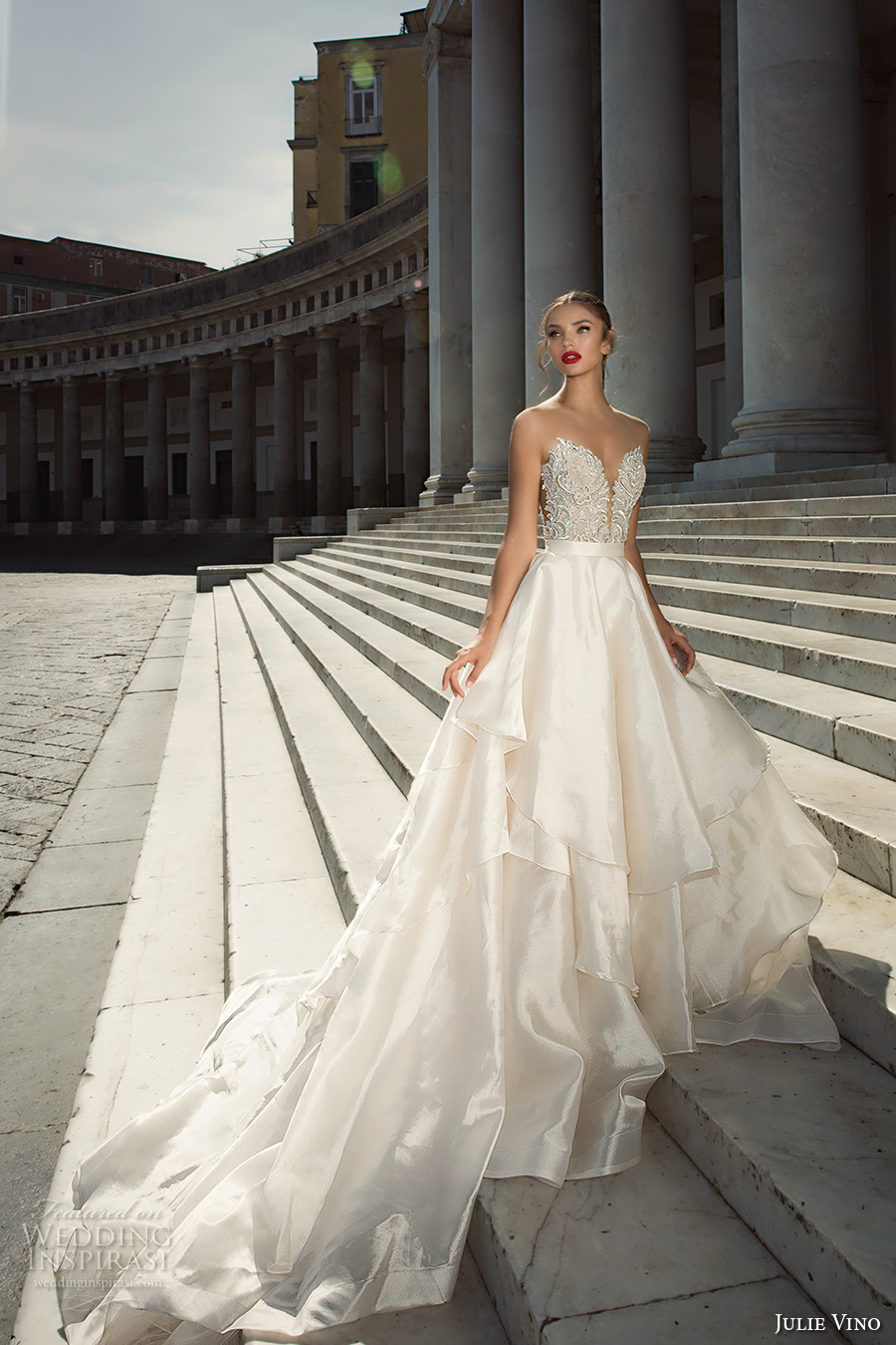 Julie vino fall 2017 wedding dresses from the napoli for Sweetheart halter wedding dress