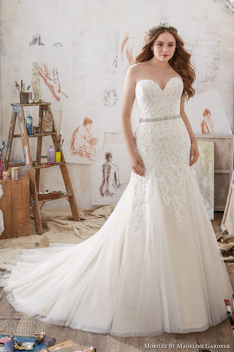 Morilee By Madeline Gardner Spring 2017 Wedding Dresses - Plus Size Blush Wedding Dresses