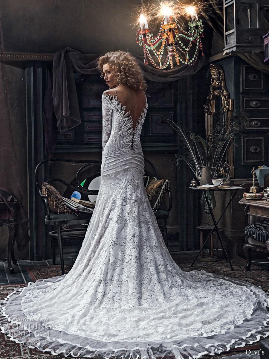 Olga yermoloff 2017 couture wedding dresses wedding for Trumpet wedding dress with long train