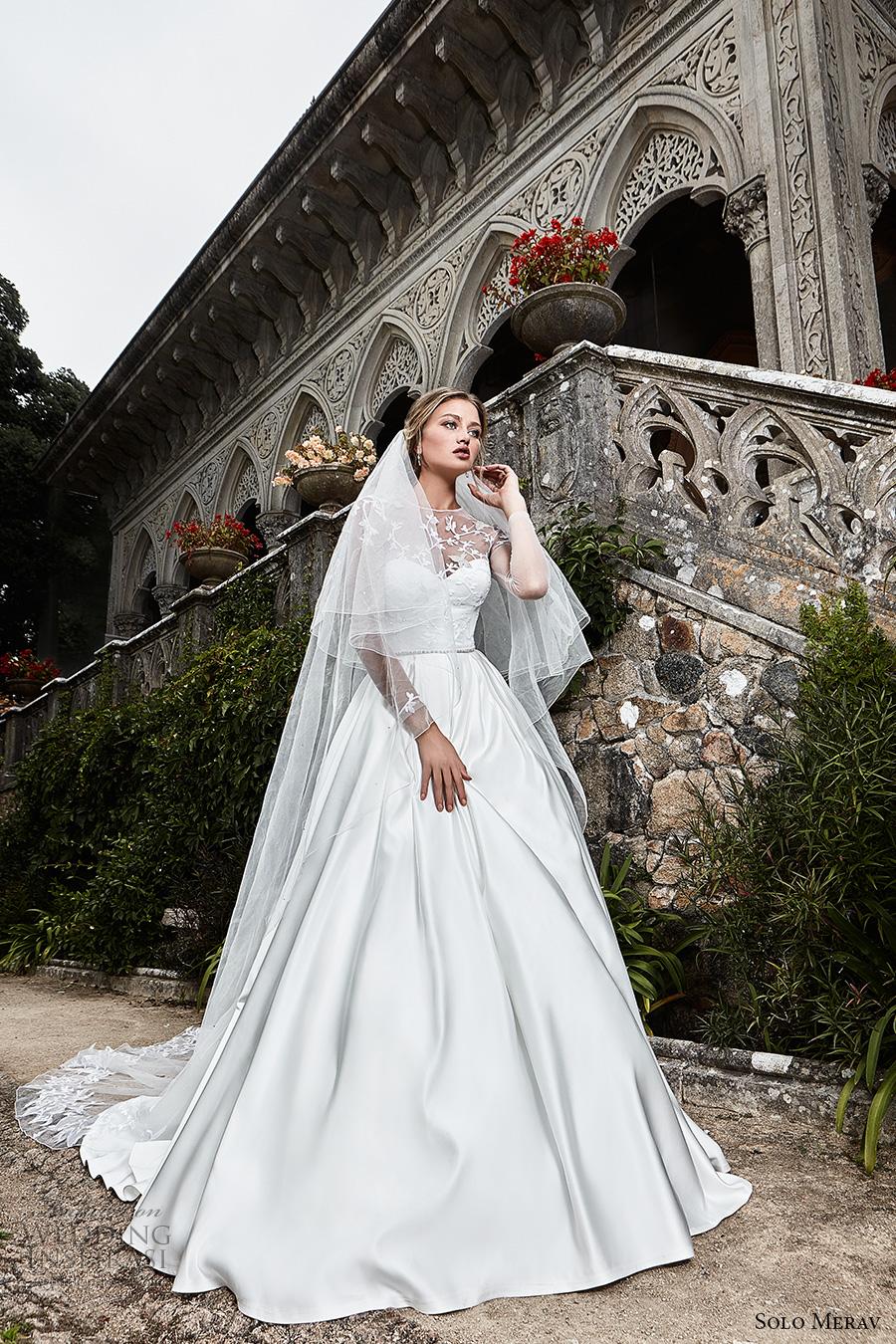 Solo merav 2017 wedding dresses games of lace bridal for Illusion sweetheart neckline wedding dress