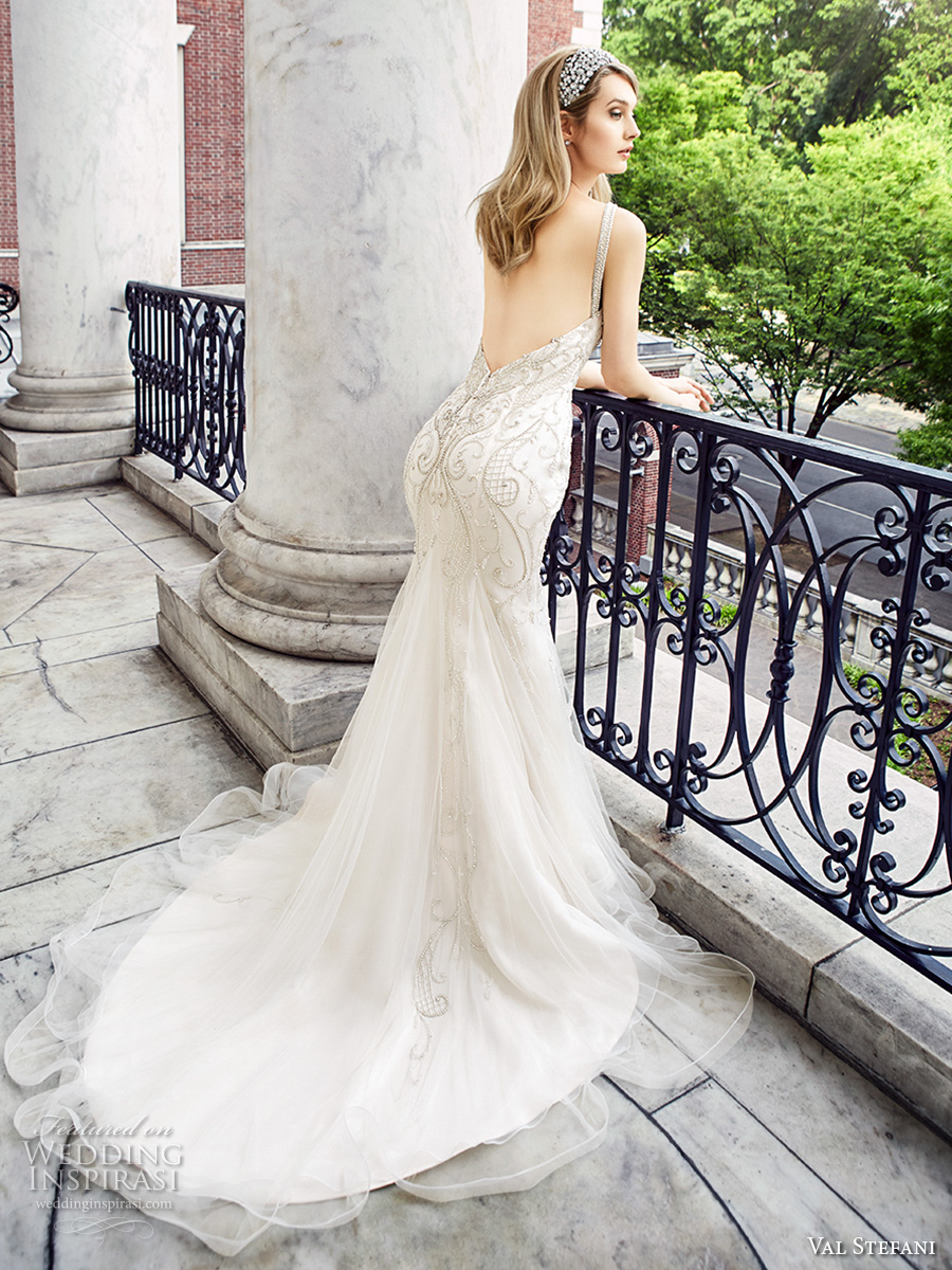 Low Back Wedding Dress Fit And Flare : Val stefani spring wedding dresses inspirasi