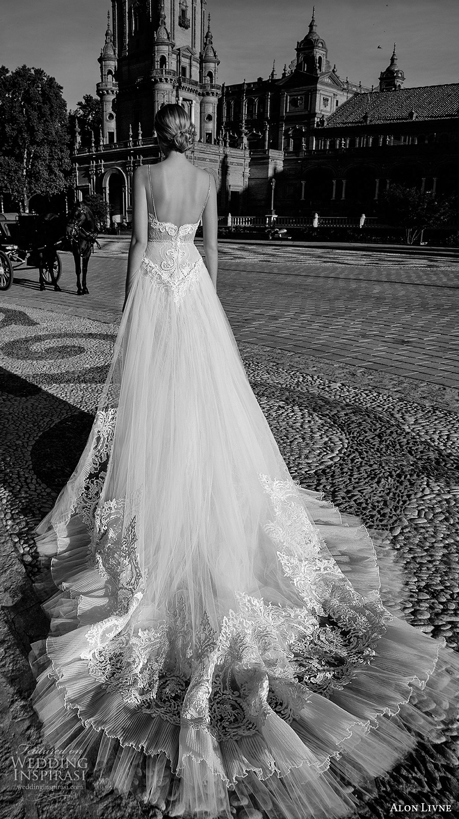 alon livne 2017 bridal sleeveless spagetti strap sweetheart neckline heavily embellished bodice sexy romantic a  line wedding dress royal train (beth) mv