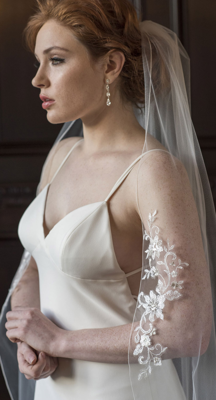 bel aire bridal accessories 1 tier waltz length veil schiffli lace appliques 7365 klk photography ebell wedding shoot mv