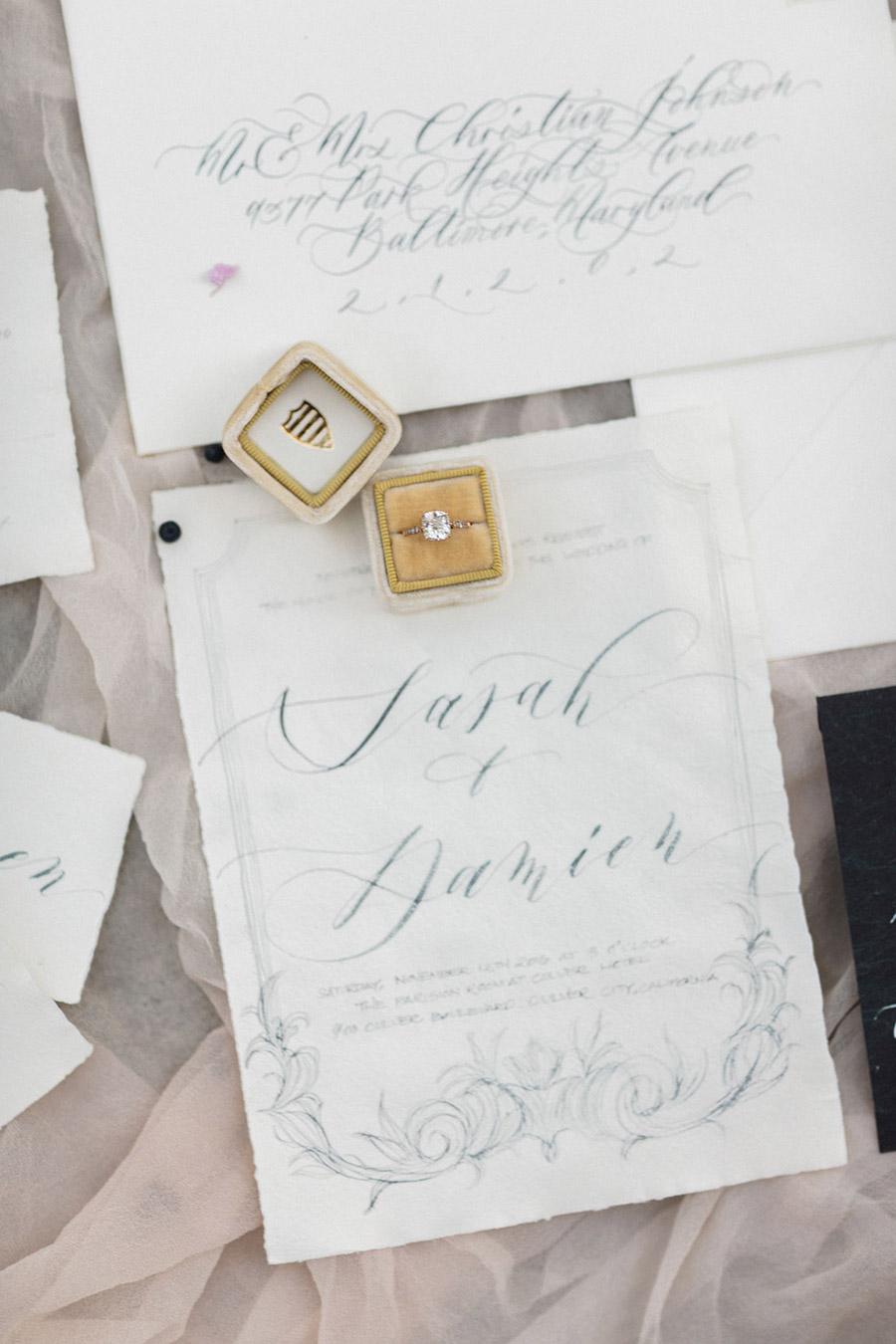 bel aire bridal accessories seniman calligraphy jen fu photography 2016 chloe mint styled shoot engagement ring box mv