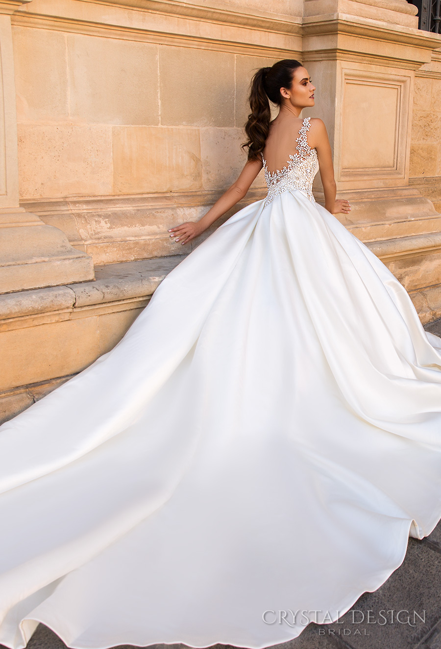 f54f425e236 crystal design 2017 bridal sleeveless jewel sweetheart neckline heavily  embellished bodice beaded simple ball gown a line wedding dress open back  royal ...