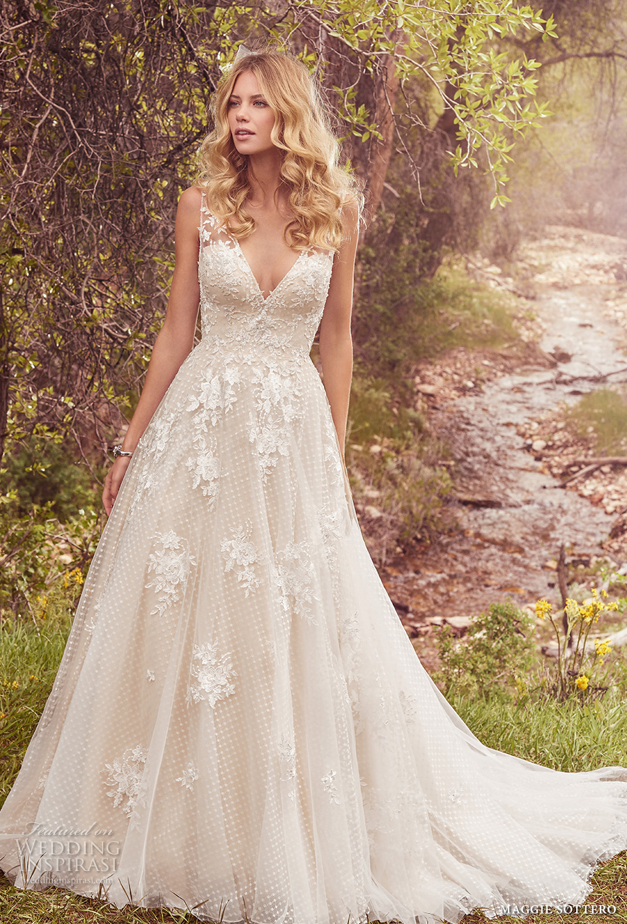 v neck wedding dress maggie sottero 2017 wedding dresses avery 8220