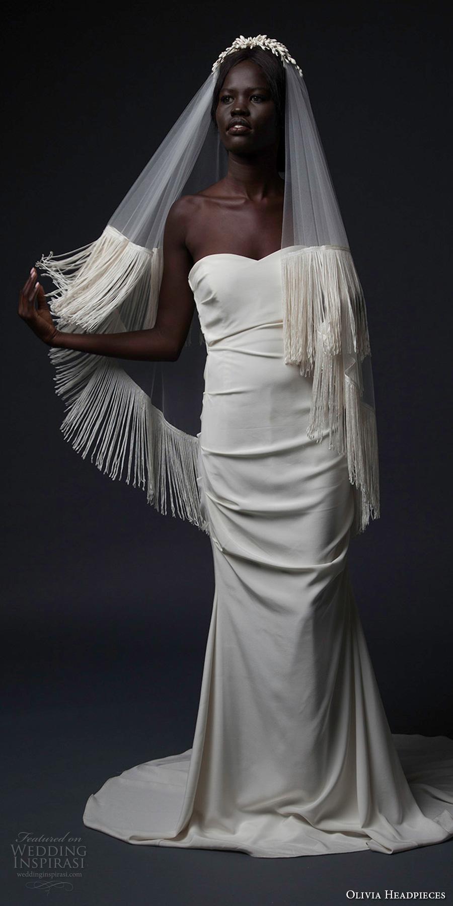Wedding Dress Veil 35 Epic olivia headpieces fall veils