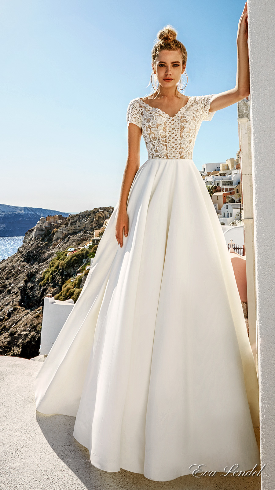 Eva lendel 2017 wedding dresses santorini bridal for Wedding dresses with sleeves 2017