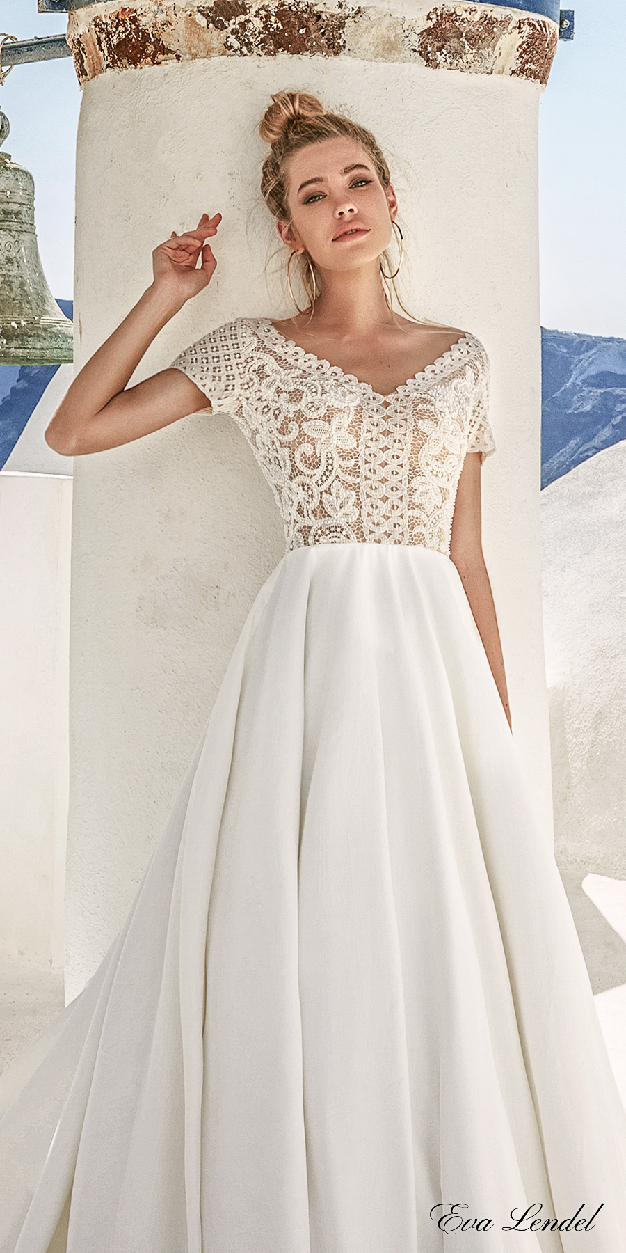 wedding dresses with short sleeves lendel 2017 wedding dresses santorini bridal 9435