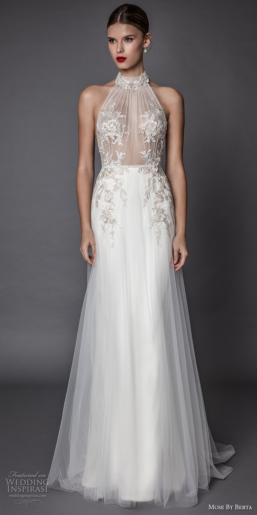 halter wedding dress muse by berta fall 2017 wedding dresses part 2 crazyforus 4687