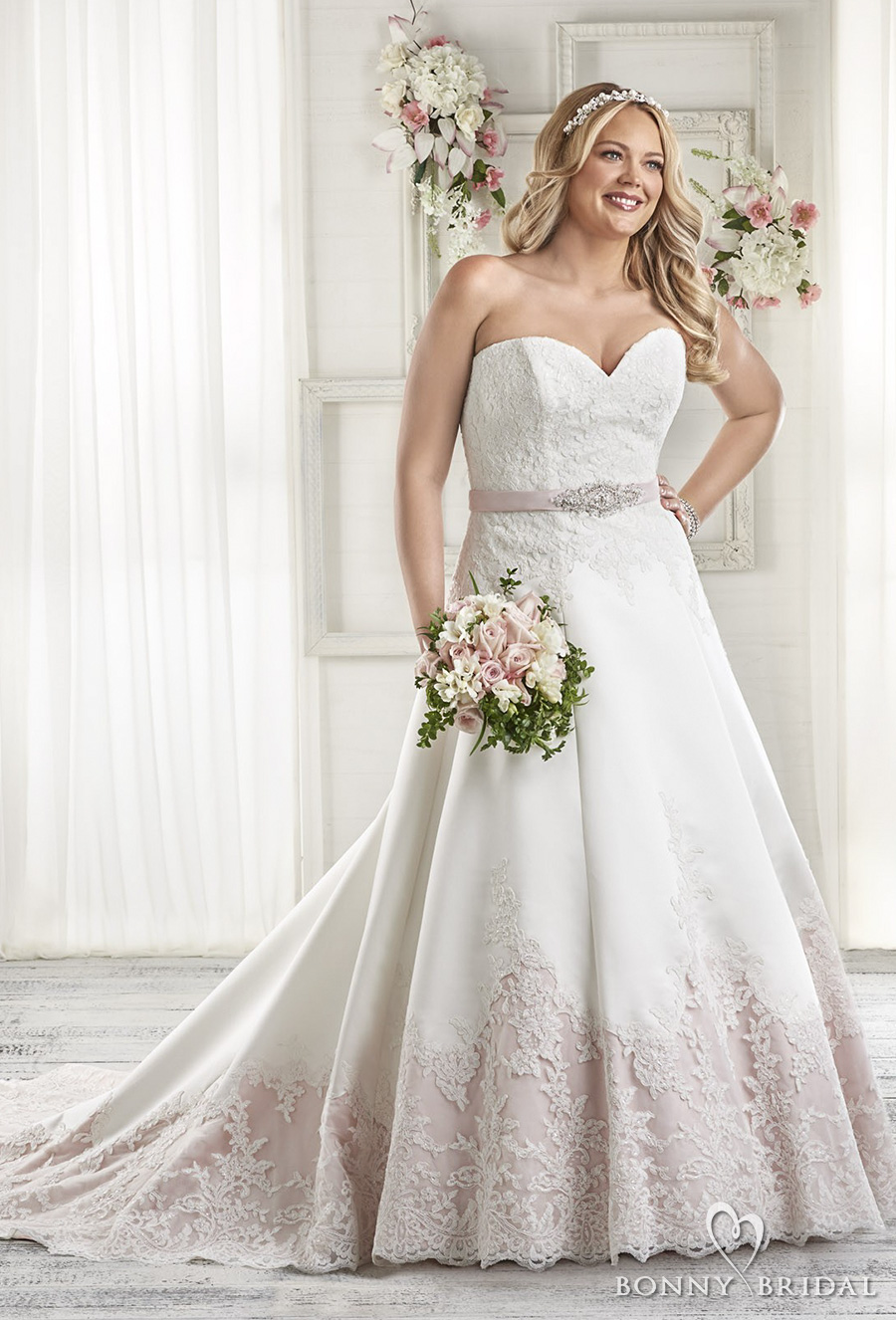 Bonny bridal wedding dresses unforgettable styles for for Colored plus size wedding dresses