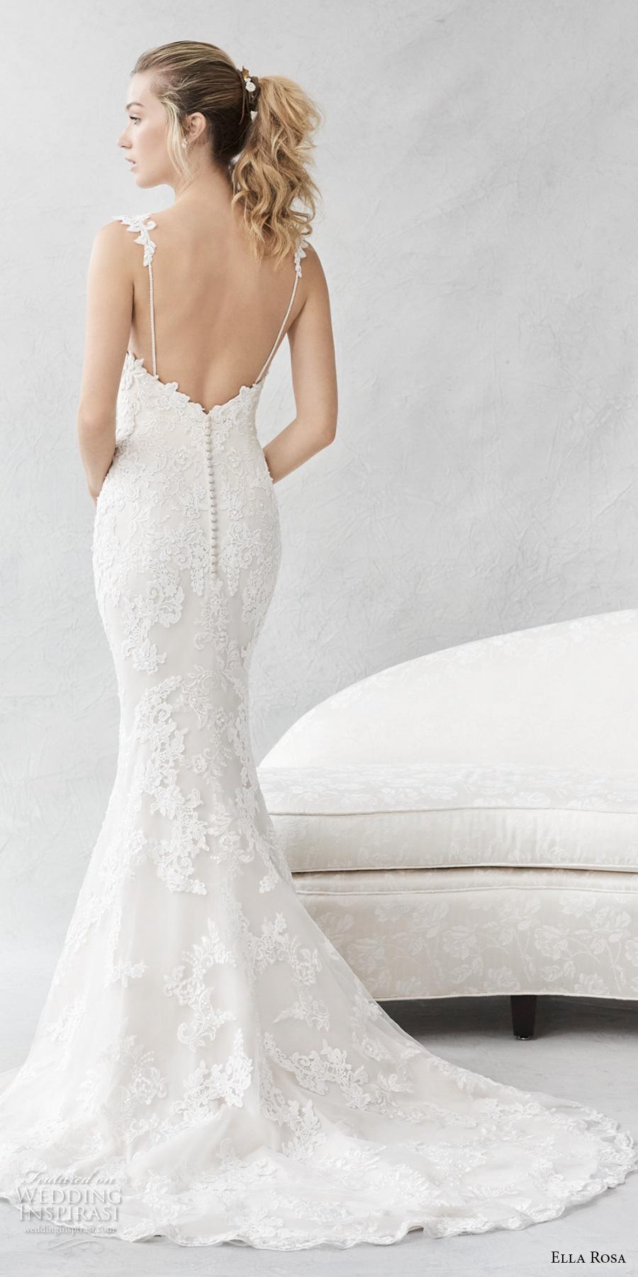 ella rosa spring 2017 bridal sleeveless embroidered strap sweetheart neckline full embellishment elegant fit and flare wedding dress open back small train (384) bv