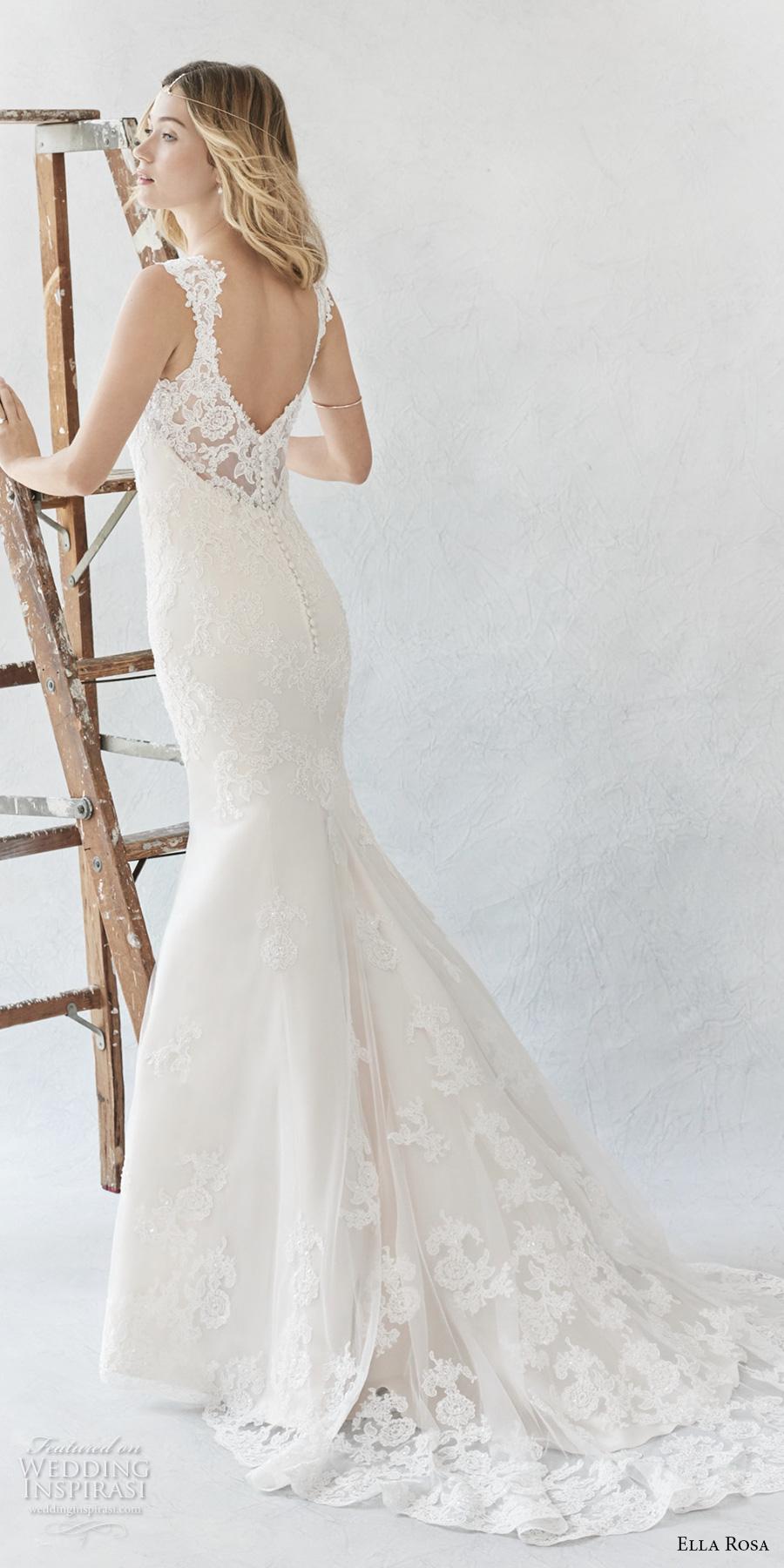 ella rosa spring 2017 bridal sleeveless sheer bateau sweetheart neckline heavily embellished bodice elegant sheath wedding dress open scoop back chapel train (370) bv