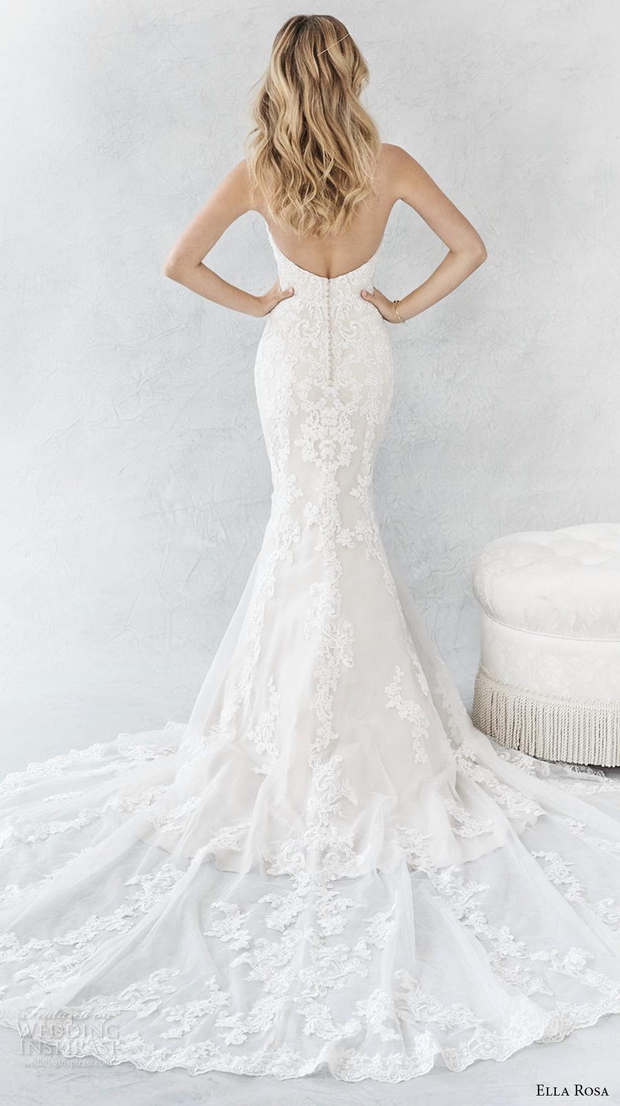 ella rosa spring 2017 bridal sleeveless strapless deep sweetheart neckline heavily embellished bodice elegant romantic mermaid wedding dress (372) bv