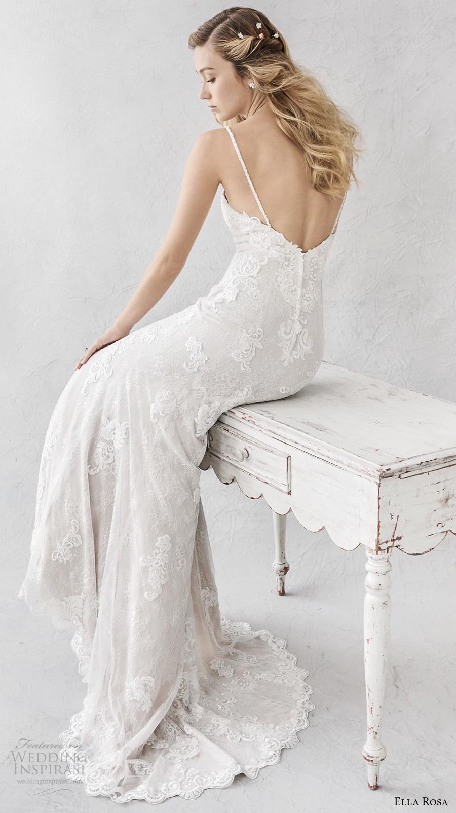 ella rosa spring 2017 bridal spagetti strap sweetheart neckline full embellishment romantic elegant fit and flare wedding dress open back sweep train (380) bv