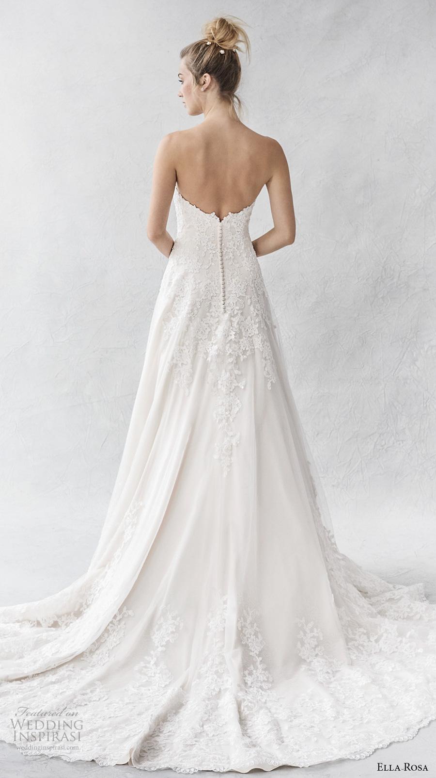 ella rosa spring 2017 bridal strapless sweetheart neckline heavily embellished bodice romantic a  line wedding dress chapel train (388) bv