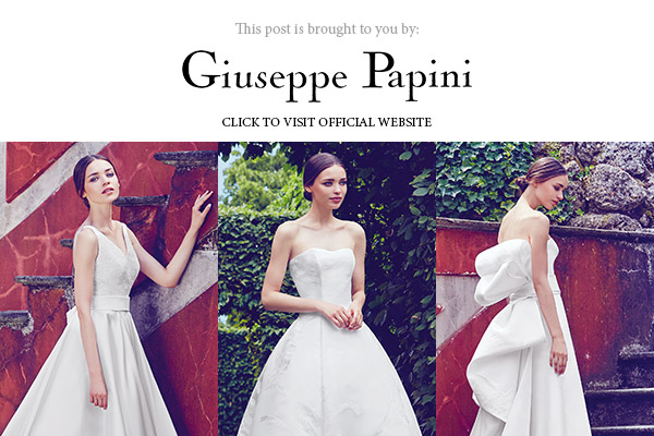 giuseppe papini 2017 bridal collection below banner