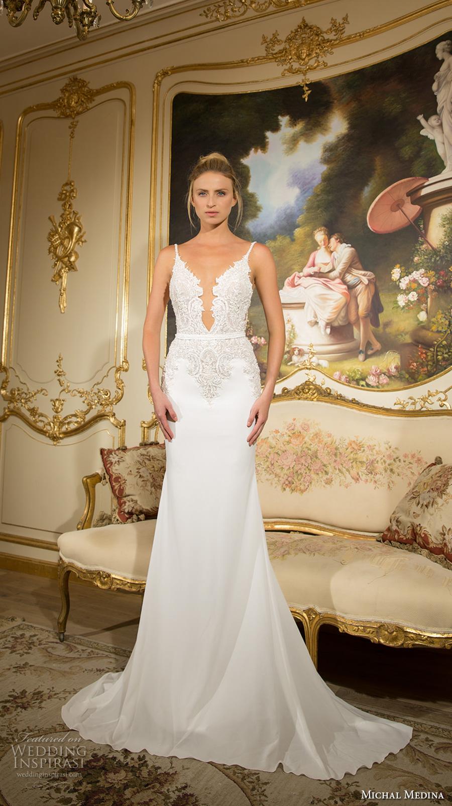 Open Low Back Wedding Dresses 60 Marvelous michal medina bridal spagetti
