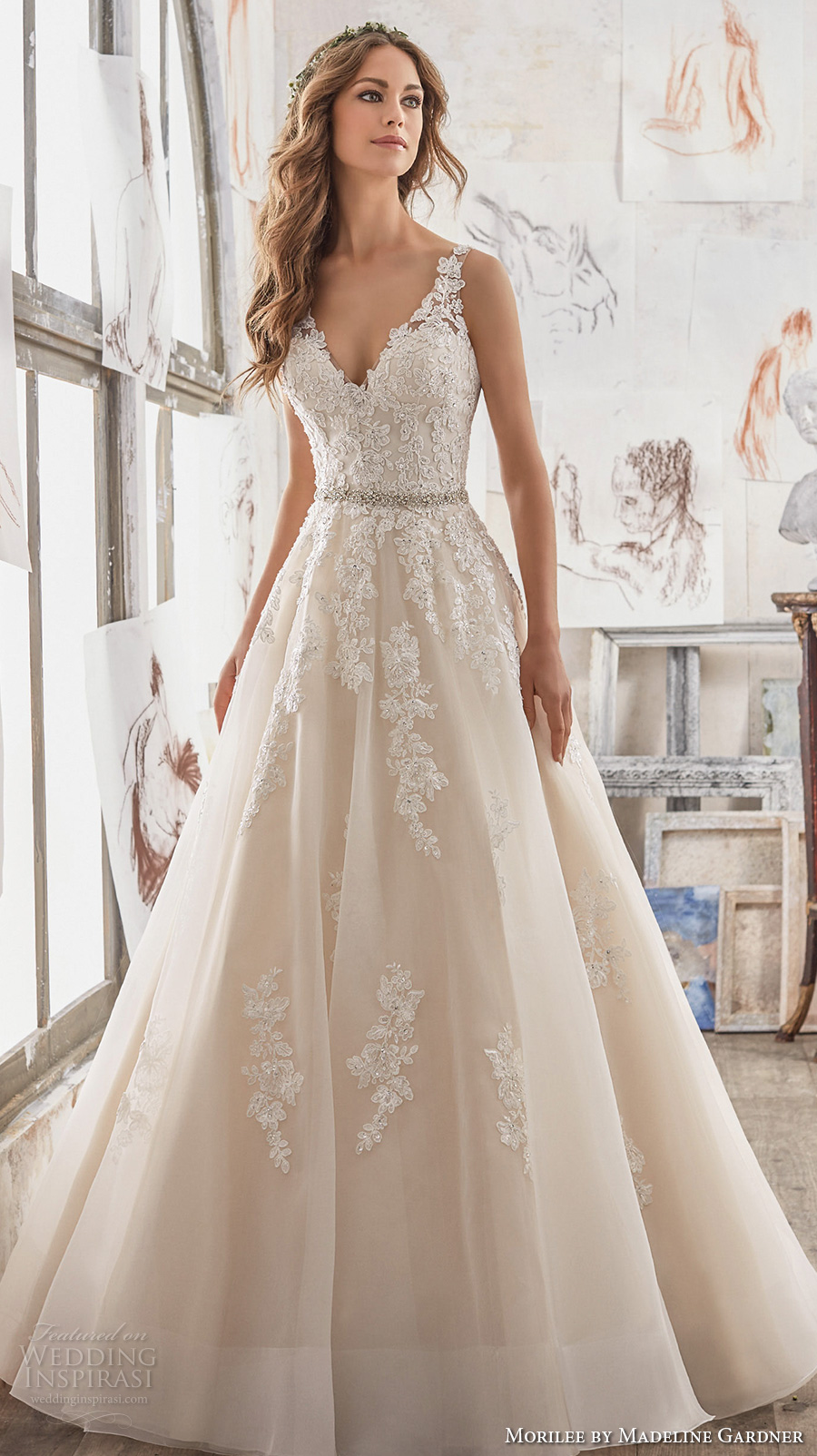 Morilee by madeline gardner spring 2017 wedding dresses for Wedding dresses in color