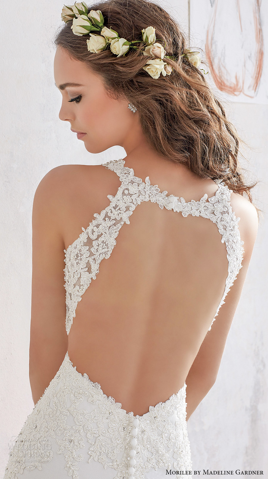 morilee spring 2017 bridal sleeveless embroidered thick strap v neck heavily embellished bodice sheath wedding dress keyhole back chapel train (5508) zbv