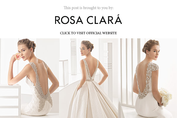 rosa clara 2017 bridal collection below banner