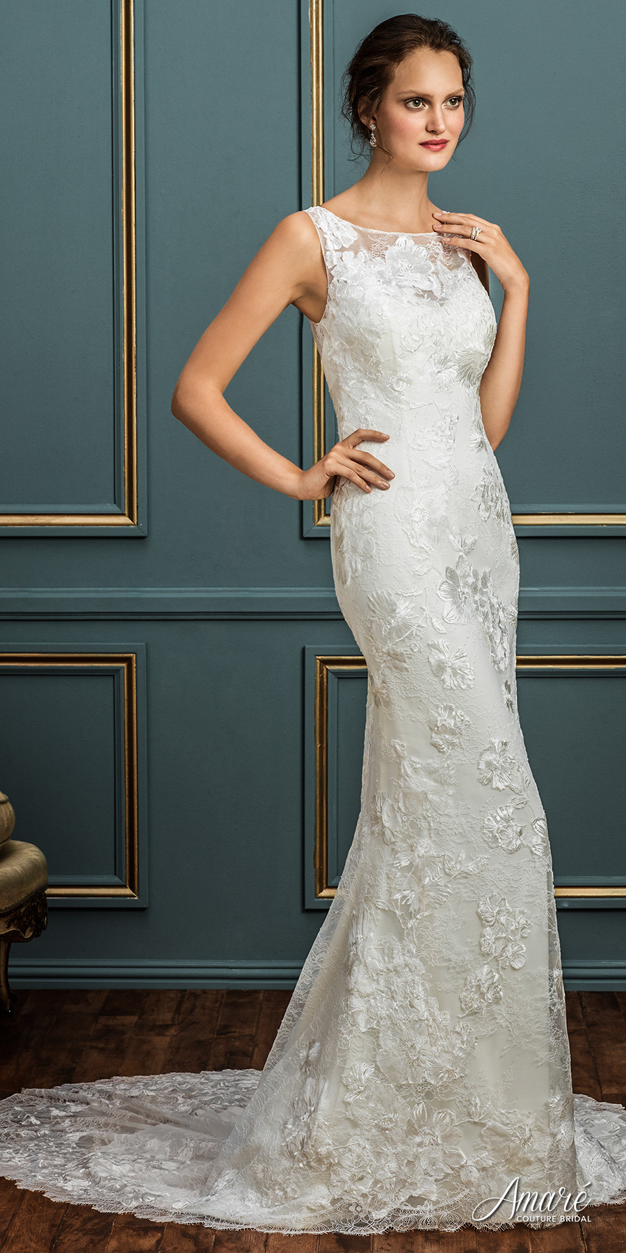 Lace Sheath Wedding Gowns 54 Spectacular amare couture spring bridal