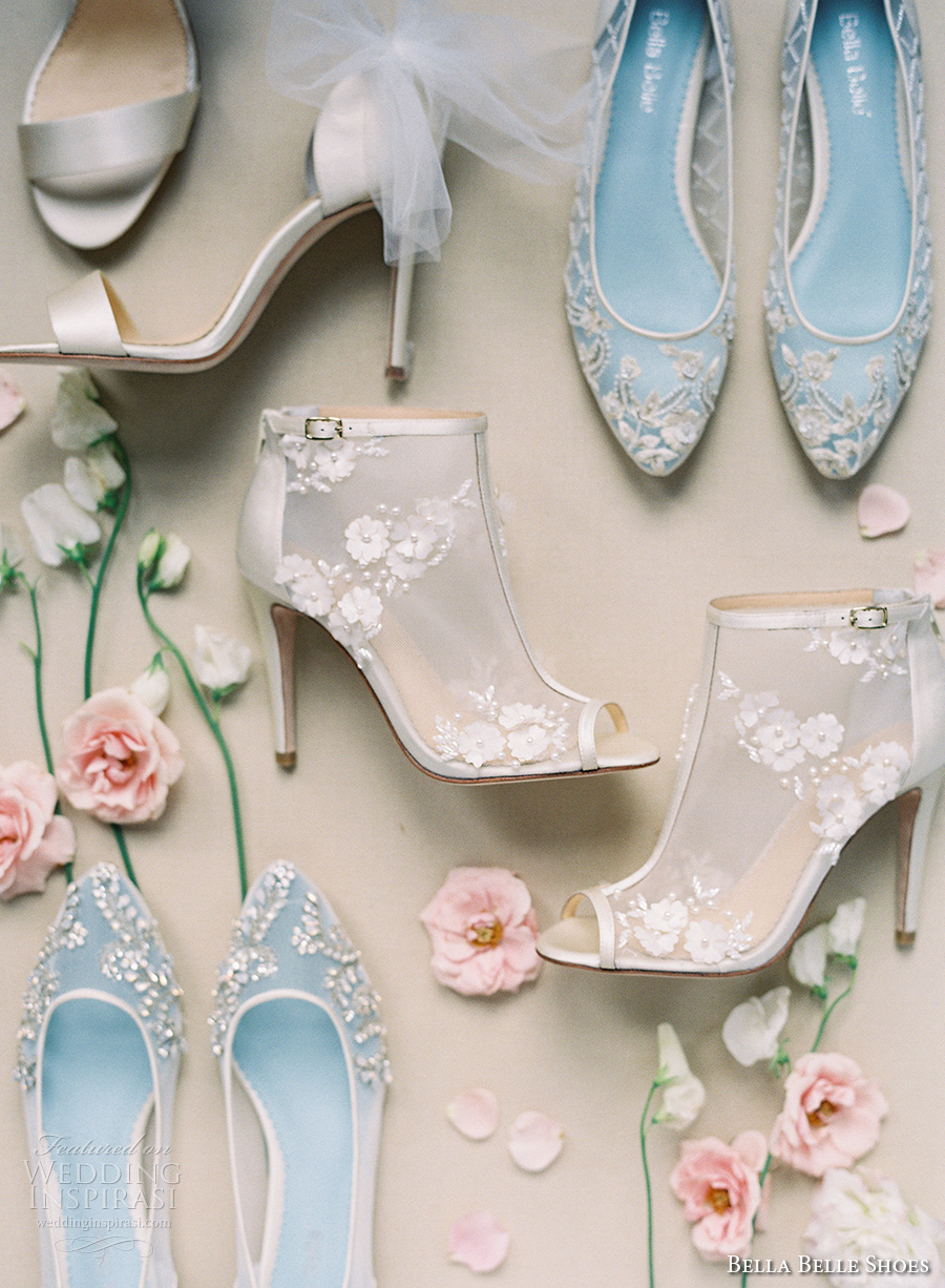 bella belle shoes bridal wedding shoes lace sheer booties flats strappy shoes flats lace embroidered heels
